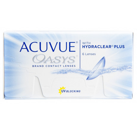 Acuvue Oasys (6) contact lenses.